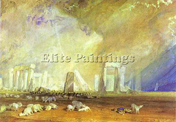 WILLIAM TURNER STONEHENGE ARTIST PAINTING REPRODUCTION HANDMADE OIL CANVAS REPRO