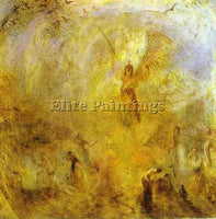 WILLIAM TURNER THE ANGEL STANDING IN THE SUN ARTIST PAINTING HANDMADE OIL CANVAS