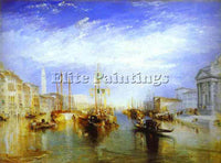 WILLIAM TURNER THE GRAND CANAL VENICE ARTIST PAINTING REPRODUCTION HANDMADE OIL