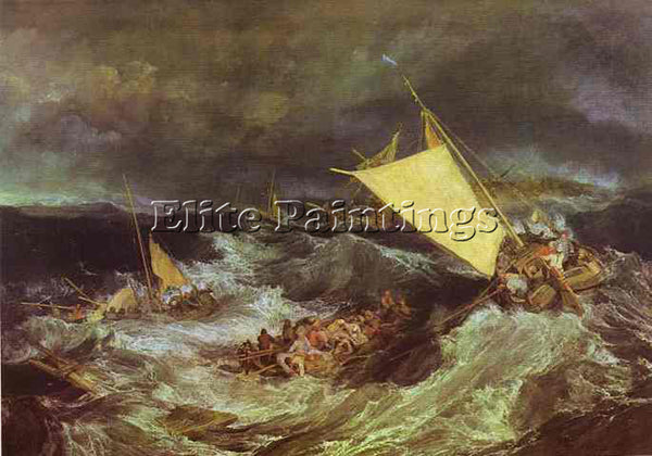 WILLIAM TURNER THE SHIPWRECK ARTIST PAINTING REPRODUCTION HANDMADE CANVAS REPRO