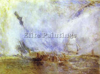 WILLIAM TURNER WHALERS ARTIST PAINTING REPRODUCTION HANDMADE CANVAS REPRO WALL