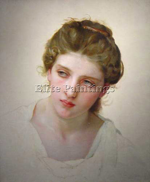 WILLIAM BOUGUEREAU ETUDEDETETEDEFEMMEBLONDEDEFACE  ARTIST PAINTING REPRODUCTION