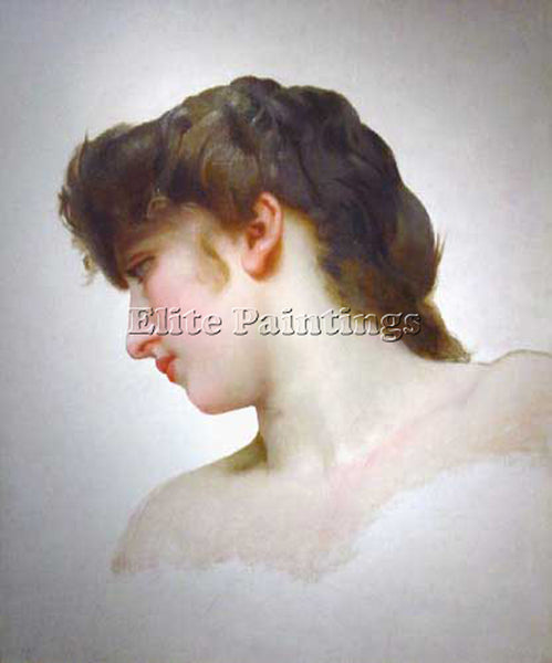 WILLIAM BOUGUEREAU ETUDEDETETEDEFEMMEBLONDEPROFIL  ARTIST PAINTING REPRODUCTION