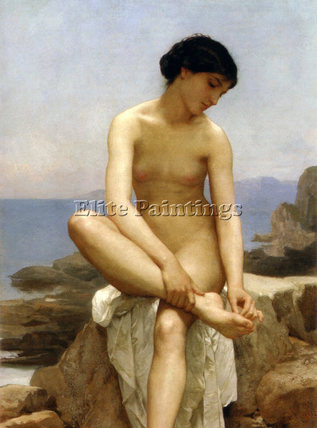 WILLIAM BOUGUEREAU THE BATHER  ARTIST PAINTING REPRODUCTION HANDMADE OIL CANVAS