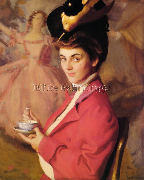 WILLIAM MCGREGOR PAXTON CHERRY OR THE GAY NINETIES 1906 ARTIST PAINTING HANDMADE