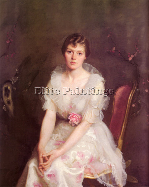 WILLIAM MCGREGOR PAXTON PORTRAIT OF LOUISE CONVERSE 1915 ARTIST PAINTING CANVAS