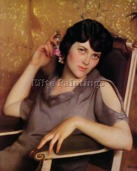 WILLIAM MCGREGOR PAXTON PRETTY GIRL ORIDLENESS 1926 ARTIST PAINTING REPRODUCTION