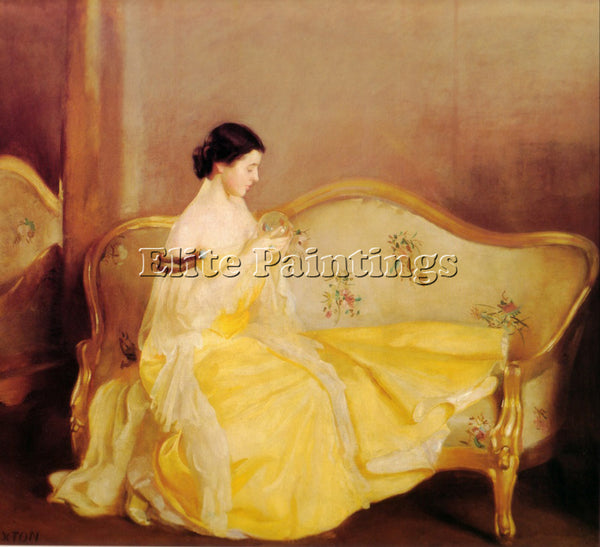 WILLIAM MCGREGOR PAXTON THE CRYSTAL 1900 ARTIST PAINTING REPRODUCTION HANDMADE