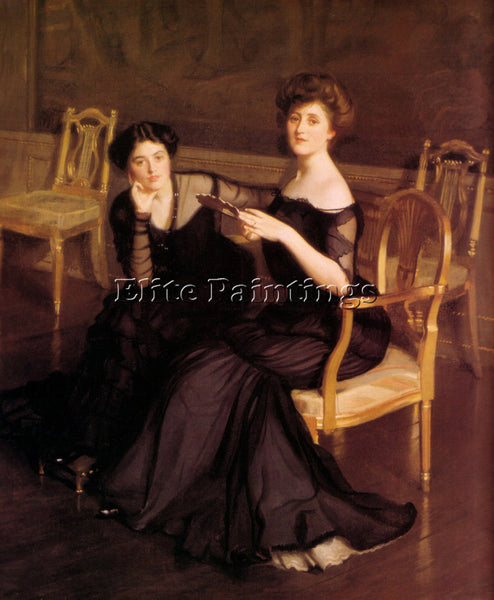 WILLIAM MCGREGOR PAXTON THE SISTERS 1904 ARTIST PAINTING REPRODUCTION HANDMADE