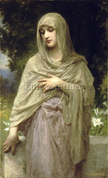 WILLIAM-ADOLPHE BOUGUEREAU MODESTIE ARTIST PAINTING REPRODUCTION HANDMADE OIL