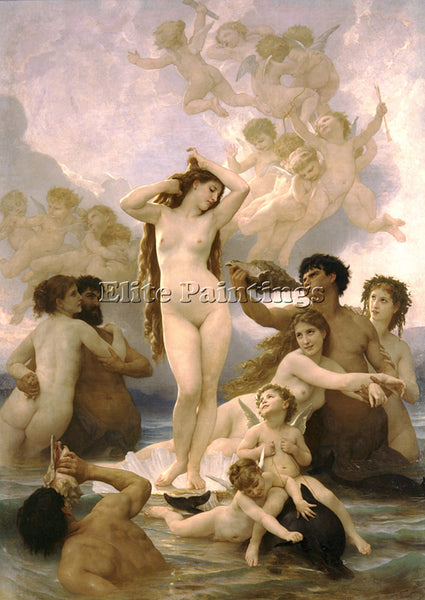 WILLIAM-ADOLPHE BOUGUEREAU NAISSANCE DE VENUS ARTIST PAINTING REPRODUCTION OIL