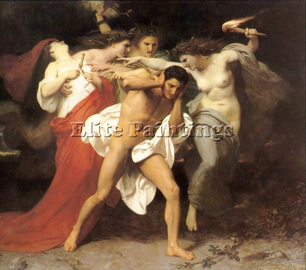 WILLIAM-ADOLPHE BOUGUEREAU ORESTES PURSUED BY THE FURIES ARTIST PAINTING CANVAS