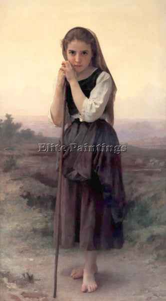 WILLIAM-ADOLPHE BOUGUEREAU PETITE BERGERE ARTIST PAINTING REPRODUCTION HANDMADE