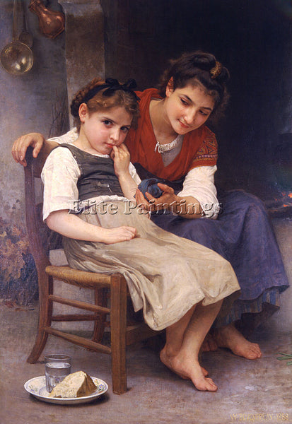 WILLIAM-ADOLPHE BOUGUEREAU PETITE BOUDEUSE ARTIST PAINTING REPRODUCTION HANDMADE