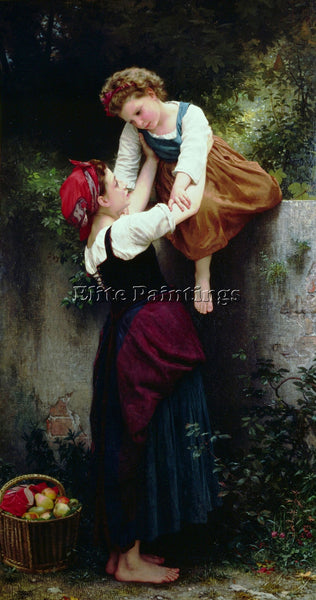 WILLIAM-ADOLPHE BOUGUEREAU PETITES MARAUDEUSES 2 ARTIST PAINTING HANDMADE CANVAS