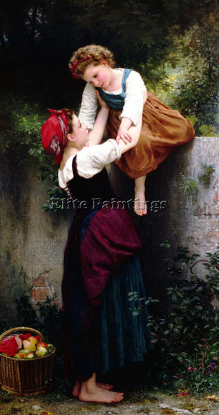 WILLIAM-ADOLPHE BOUGUEREAU PETITES MARAUDEUSES ARTIST PAINTING REPRODUCTION OIL