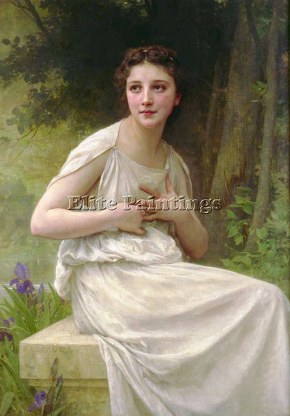 WILLIAM-ADOLPHE BOUGUEREAU REFLEXION ARTIST PAINTING REPRODUCTION HANDMADE OIL