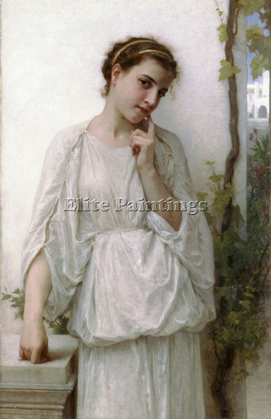 WILLIAM-ADOLPHE BOUGUEREAU REVERIE ARTIST PAINTING REPRODUCTION HANDMADE OIL ART