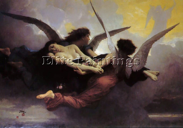 WILLIAM-ADOLPHE BOUGUEREAU SOUL CARRIED TO HEAVEN ARTIST PAINTING REPRODUCTION