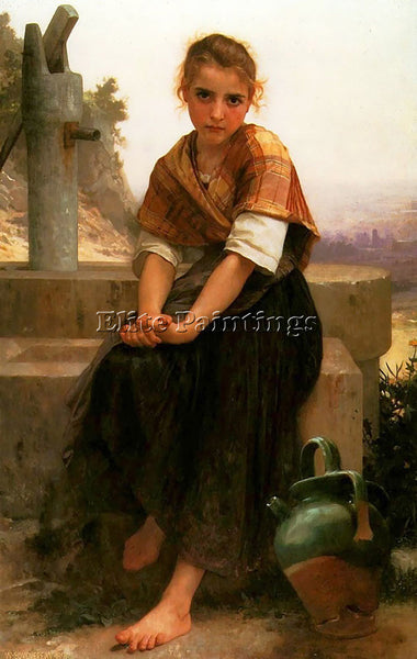 WILLIAM-ADOLPHE BOUGUEREAU THE BROKEN PITCHER ARTIST PAINTING REPRODUCTION OIL