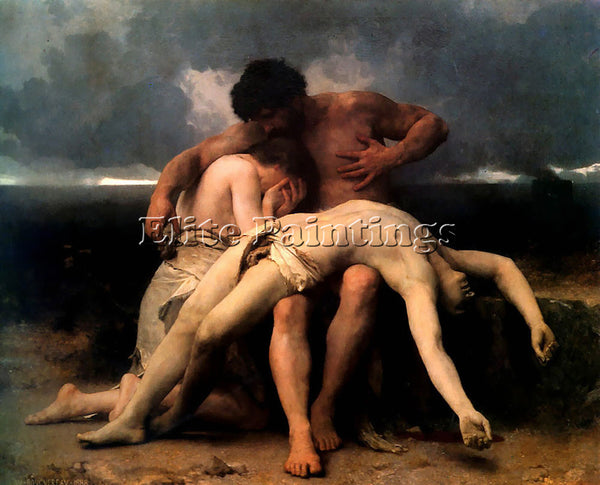WILLIAM-ADOLPHE BOUGUEREAU THE FIRST MOURNING ARTIST PAINTING REPRODUCTION OIL