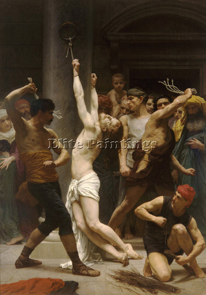 WILLIAM-ADOLPHE BOUGUEREAU THE FLAGELLATION OF CHRIST ARTIST PAINTING HANDMADE