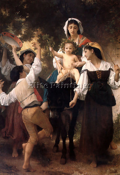 WILLIAM-ADOLPHE BOUGUEREAU THE RETURN FROM THE HARVEST ARTIST PAINTING HANDMADE
