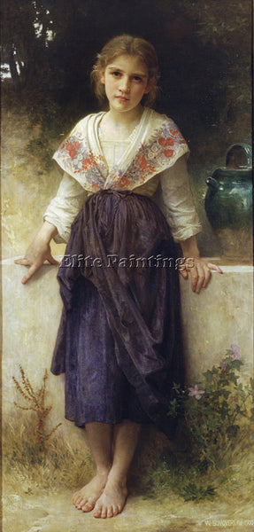 WILLIAM-ADOLPHE BOUGUEREAU UN MOMENT REPOS ARTIST PAINTING REPRODUCTION HANDMADE