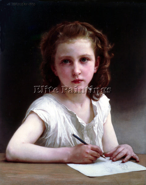 WILLIAM-ADOLPHE BOUGUEREAU UNE VOCATION ARTIST PAINTING REPRODUCTION HANDMADE