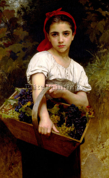 WILLIAM-ADOLPHE BOUGUEREAU VENDANGEUSE ARTIST PAINTING REPRODUCTION HANDMADE OIL