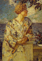 AMERICAN WILLIAM DE LEFTWICH DODGE WOMAN BY THE SEA ARTIST PAINTING REPRODUCTION