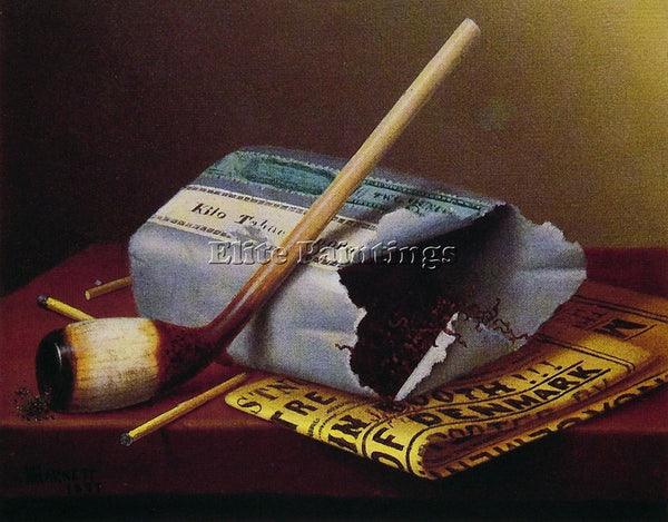 WILLIAM MICHAEL HARNETT A SMOKE BACKSTAGE ARTIST PAINTING REPRODUCTION HANDMADE