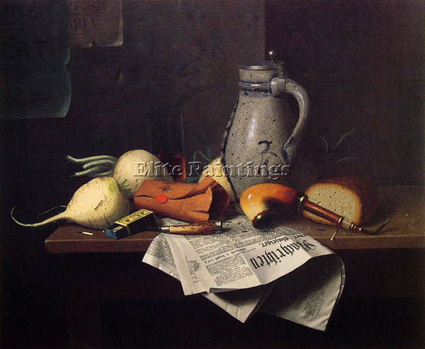 WILLIAM MICHAEL HARNETT MUNICH STILL LIFE 1882 ARTIST PAINTING REPRODUCTION OIL
