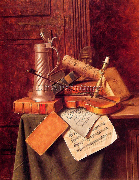 WILLIAM MICHAEL HARNETT MUNICH STILL LIFE ARTIST PAINTING REPRODUCTION HANDMADE