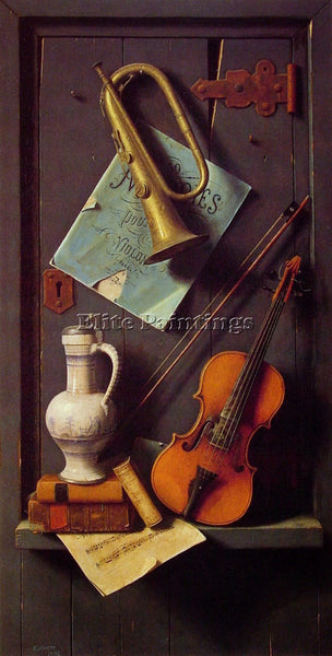WILLIAM MICHAEL HARNETT OLD MODELS ARTIST PAINTING REPRODUCTION HANDMADE OIL ART