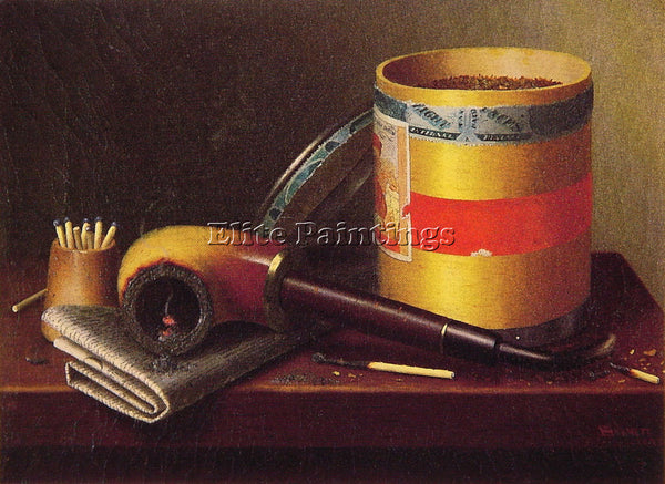 WILLIAM MICHAEL HARNETT STILL LIFE 1877 ARTIST PAINTING REPRODUCTION HANDMADE