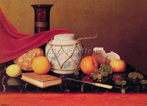 WILLIAM MICHAEL HARNETT STILL LIFE WITH GINGER JAR ARTIST PAINTING REPRODUCTION