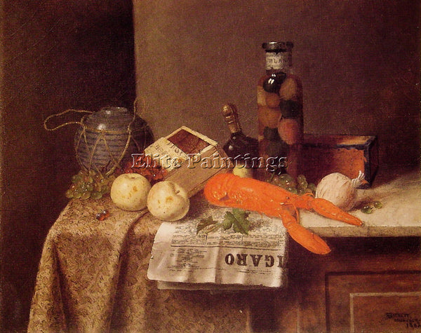 WILLIAM MICHAEL HARNETT STILL LIFE WITH LE FIGARO ARTIST PAINTING REPRODUCTION