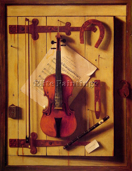 WILLIAM MICHAEL HARNETT STILL LIFE VIOLIN AND MUSIC ARTIST PAINTING REPRODUCTION