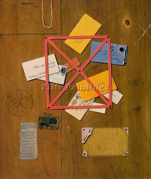 WILLIAM MICHAEL HARNETT THE ARTISTS LETTER RACK ARTIST PAINTING REPRODUCTION OIL