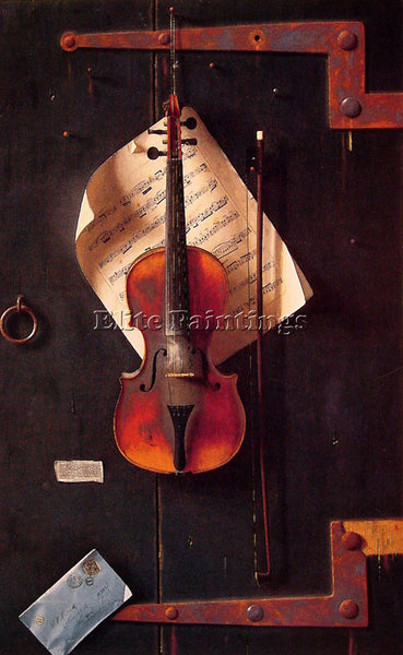 WILLIAM MICHAEL HARNETT THE OLD VIOLIN ARTIST PAINTING REPRODUCTION HANDMADE OIL