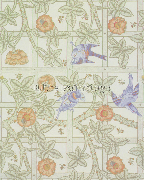 WILLIAM MORRIS  F ARTIST PAINTING REPRODUCTION HANDMADE CANVAS REPRO WALL DECO