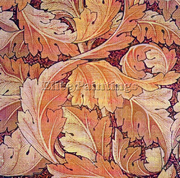 WILLIAM MORRIS ACANTHUS1 ARTIST PAINTING REPRODUCTION HANDMADE CANVAS REPRO WALL