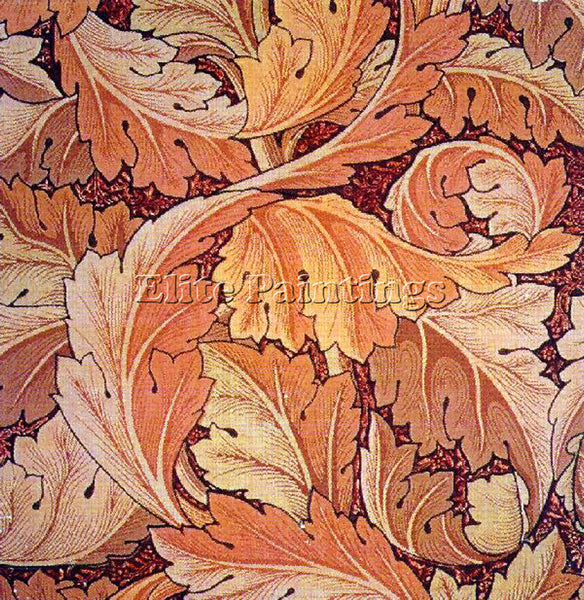 WILLIAM MORRIS ACANTHUS2 ARTIST PAINTING REPRODUCTION HANDMADE CANVAS REPRO WALL