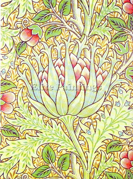 WILLIAM MORRIS ARTICHOKE ARTIST PAINTING REPRODUCTION HANDMADE CANVAS REPRO WALL