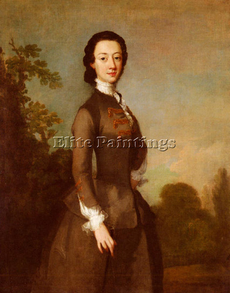 BRITISH WILSON RICHARD PORTRAIT LADY POSSIBLY MEMBER FOLEY FAMILY ARTIST CANVAS