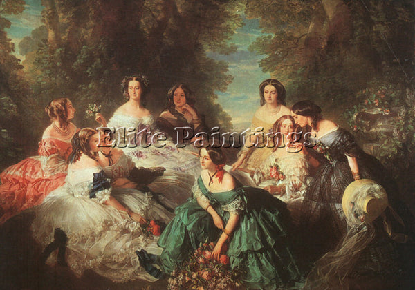 GERMAN WINTERHALTER FRANZ XAVER GERMAN 1805 1873 2 ARTIST PAINTING REPRODUCTION