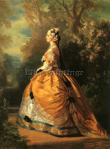 GERMAN WINTERHALTER FRANZ XAVER GERMAN 1805 1873 ARTIST PAINTING HANDMADE CANVAS