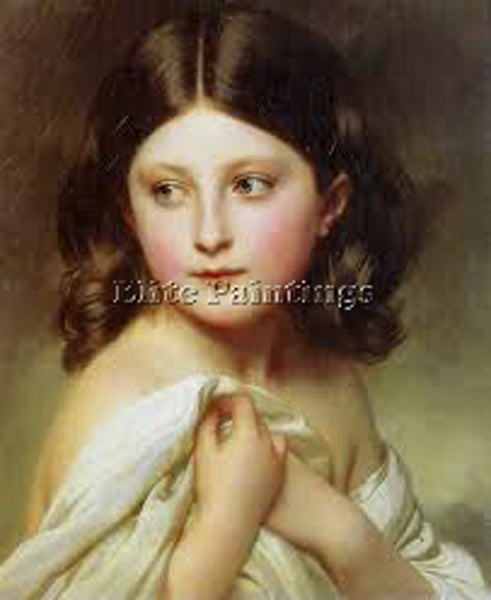 GERMAN WINTERHALTER FRANZ XAVER 1 ARTIST PAINTING REPRODUCTION HANDMADE OIL DECO
