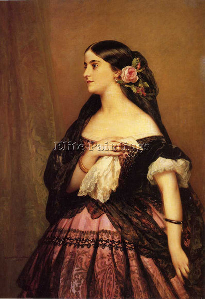 GERMAN WINTERHALTER FRANZ XAVER ADELINA PATTI ARTIST PAINTING REPRODUCTION OIL